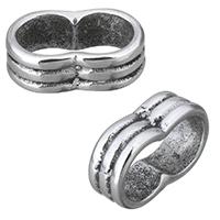 Edelstahl Armband Zubehör, Schwärzen, 13x4.50x8mm, Bohrung:ca. 10x4mm, 10PCs/Menge, verkauft von Menge