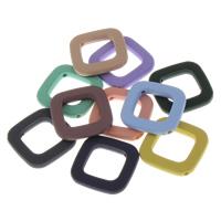 Volltonfarbe Acryl Perlen, Quadrat, gummierte, keine, 35x5mm, Bohrung:ca. 2mm, 500PCs/Tasche, verkauft von Tasche