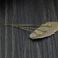 925 Sterling Silber Kettelstifte, vergoldet, verschiedene Stile für Wahl, 50PCs/Menge, verkauft von Menge
