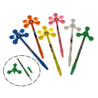 Zappeln Stift, Kunststoff, mit Zinklegierung, gemischte Farben, 6.50x19.50x8mm, 12PCs/Box, verkauft von Box