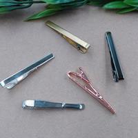 Krawatte Clip, Messing, plattiert, keine, frei von Nickel, Blei & Kadmium, 55x5mm, 10PCs/Tasche, verkauft von Tasche
