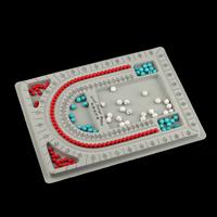 Perlen Zählbrett, Kunststoff, Rechteck, grau, 325x240x15mm, 20PCs/Menge, verkauft von Menge