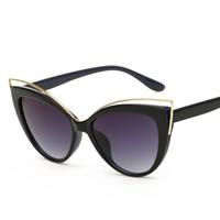 Art- und WeiseSonnenbrillen , PC Kunststoff, mit PC Kunststofflinse & Zinklegierung, KC goldfarben plattiert, unisex, keine, 142x45x140mm, verkauft von PC