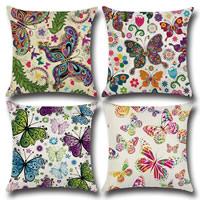Kissenbezug, Baumwollgewebe, Quadrat, verschiedene Muster für Wahl, 450x450mm, verkauft von PC