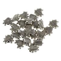 Zinklegierung Herz Perlen, antik silberfarben plattiert, frei von Blei & Kadmium, 9x10x4mm, Bohrung:ca. 1.5mm, 50PCs/Tasche, verkauft von Tasche
