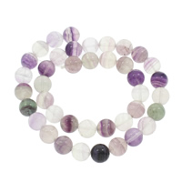 lila Fluorit Perle, rund, verschiedene Größen vorhanden, Bohrung:ca. 1mm, verkauft per ca. 14.5 ZollInch Strang