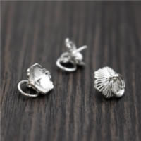 925 Sterling Silber Ringöse, 8x7.1mm, 0.76mm, Bohrung:ca. 3mm, 30PCs/Menge, verkauft von Menge