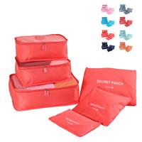 Reisetaschen, Polyester, mit Brief Muster & wasserdicht, keine, 26x16-41cmx32x14cm, 6PCs/setzen, verkauft von setzen
