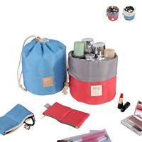 Kosmetische Aufbewahrungsbeutel, Nylon, mit Brief Muster & wasserdicht, keine, 17x23cm-18.5x8cm, verkauft von PC