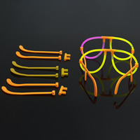 Plastic Luminous Glasses Accessories for children mixed colors 125mm Sold By Bag
