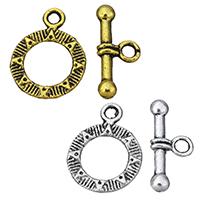 Zinklegierung Knebelverschluss, plattiert, keine, frei von Nickel, Blei & Kadmium, 14.5x19x2mm, 8.5x19.5x3mm, Bohrung:ca. 2mm, 100SetsSatz/Menge, verkauft von Menge