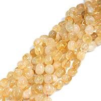 Natürlicher Citrin Perlen, Gelbquarz Perlen, Klumpen, November Birthstone & verschiedene Größen vorhanden, Bohrung:ca. 0.5-1mm, verkauft per ca. 15 ZollInch Strang