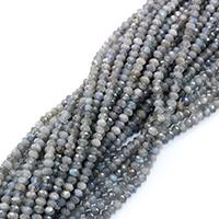 Labradorit Perlen, Rondell, natürlich, verschiedene Größen vorhanden & facettierte, Bohrung:ca. 0.5-1mm, verkauft per ca. 16 ZollInch Strang