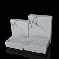 Karton Schmuckset Kasten, Papier, Fingerring & Halskette, mit Schwamm, verschiedene Stile für Wahl, verkauft von Menge