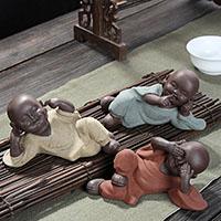 Tee Haustierdekoration, Porzellan, Buddhistischer Mönch, verschiedene Stile für Wahl, 125x55x65mm, verkauft von PC