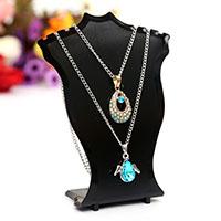 Kunststoff Halskette Display, verschiedene Stile für Wahl, keine, frei von Nickel, Blei & Kadmium, 100x120x4.3mm, 10PCs/Menge, verkauft von Menge