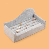 Baumwollsamt Ringständer, mit Karton, Sofa, grau, 213x52x104mm, verkauft von PC