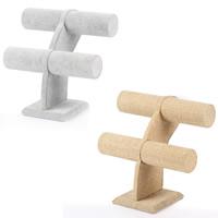 Baumwollsamt Armbandständer, Leinen, mit Baumwollsamt, verschiedenen Materialien für die Wahl, 230x220x110mm, verkauft von PC