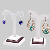 Leder Ohrringständer, PU Leder, verschiedene Stile für Wahl, 5PCs/Menge, verkauft von Menge