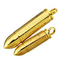Edelstahl-Gewehrkugel-Anhänger, Edelstahl, goldfarben plattiert, mit Quermuster & verschiedene Größen vorhanden & mit Brief Muster, verkauft von PC