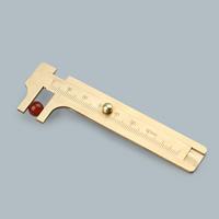 Nonius-Messschieber, Messing, goldfarben plattiert, frei von Nickel, Blei & Kadmium, 0-80mm, verkauft von PC