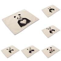 Platzieren Sie Matten, Baumwollgewebe, Rechteck, mit einem Muster von Nummer & verschiedene Muster für Wahl & mit Brief Muster, 42x32cm, verkauft von PC