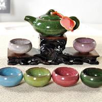 Lila Sand Teeset, Teekanne & Teetasse, keine, 150x70mm, 65x35mm, verkauft von setzen