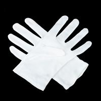 Handschuhe, Baumwolle, weiß, 90x220mm, 10PaarePärchen/Menge, verkauft von Menge
