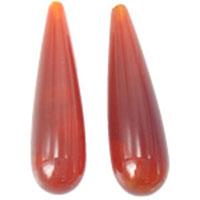 Natürlich rote Achat Perlen, Roter Achat, Tropfen, Weitere Größen für Wahl, frei von Nickel, Blei & Kadmium, Bohrung:ca. 0.8mm, verkauft von PC