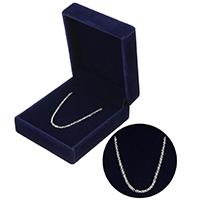 925 Sterling Silber Halskette Kette, Mit Verpackungskasten & unterschiedliche Länge der Wahl & Oval-Kette, 2x1.80x0.40mm, verkauft von Strang