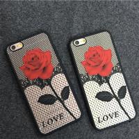 Kundenindividuelle Handyhülle, TPU Kunststoff, mit PC Kunststoff, Rechteck, Wort Liebe, verschiedene Stile für Wahl & mit Blumenmuster, verkauft von PC