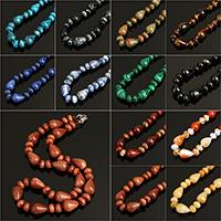 Unisex Halskette, Edelstein, Eisen Karabinerverschluss, verschiedenen Materialien für die Wahl, 10x14mm, verkauft per ca. 17 ZollInch Strang