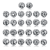 kommen on® Schmuck Beads, Thailand, rund, verschiedene Verpackungs Art für Wahl & verschiedene Muster für Wahl & Micro pave Zirkonia & ohne troll & hohl, 10x11mm, Bohrung:ca. 4.5-5mm, verkauft von PC