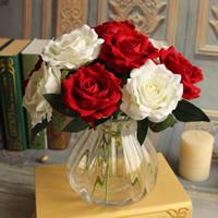 Künstliche Blumendekoration, Seidenspinnerei, Rose, keine, 270x90mm, 10PCs/Tasche, verkauft von Tasche