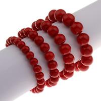 Korallen Armband, Synthetische Koralle, rund, verschiedene Größen vorhanden & für Frau, keine, verkauft per ca. 7.5 ZollInch Strang