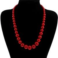 Koralle Halskette, Synthetische Koralle, für Frau, 6-16mm, verkauft per ca. 19.5 ZollInch Strang