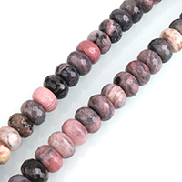 Rhodonit Perlen, Rondell, natürlich, verschiedene Größen vorhanden & facettierte, Bohrung:ca. 0.5-2mm, verkauft per ca. 15 ZollInch Strang