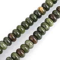 Taiwan Jade Perle, Rondell, natürlich, verschiedene Größen vorhanden, Bohrung:ca. 0.5-2mm, verkauft per ca. 15 ZollInch Strang