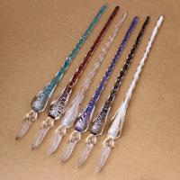 Lampwork Glas Dip Pen, handgemacht, Silberfolie, keine, 16x190mm, verkauft von PC