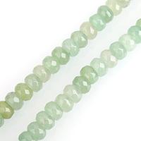 Aventurin Perlen, Grüner Aventurin, Rondell, verschiedene Größen vorhanden & facettierte, verkauft per ca. 15 ZollInch Strang