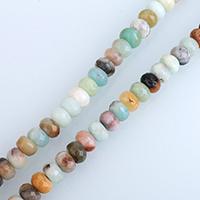 Amazonit Perlen, Rondell, natürlich, verschiedene Größen vorhanden, verkauft per ca. 15 ZollInch Strang