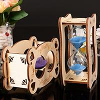 Hourglass Timer, Holz, Sanduhr, mit Glas & Sanduhr, 79x118mm, verkauft von PC