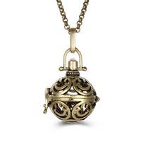 Messing Schwangere Harmonie-Kugel-Strickjacke-Halskette, rund, plattiert, Rolo Kette & für Frau & hohl, keine, frei von Blei & Kadmium, 800mm, verkauft per ca. 31 ZollInch Strang