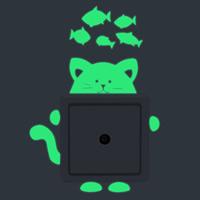 Lichtschalter Aufkleber, Papier, Katze und Fische, Klebstoff & glänzend, 100x90mm, verkauft von PC