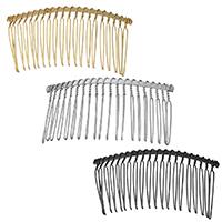 Dekoratives Haarkämmchen, Eisen, rund, plattiert, keine, 75x36x4mm, 5PCs/Menge, verkauft von Menge