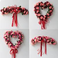 Kunstseide mit Satinband, Herz, Hochzeitsgeschenk & verschiedene Stile für Wahl, verkauft von PC