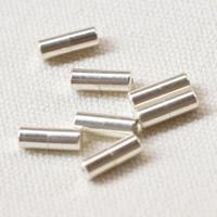 925 Sterling Silber Schraubschließe, silberfarben plattiert, 11.4x4mm, Bohrung:ca. 1mm, 5PCs/Tasche, verkauft von Tasche