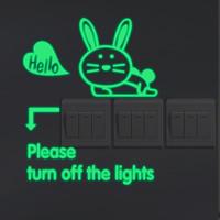 Lichtschalter Aufkleber, PVC Kunststoff, Hase, Klebstoff & mit Brief Muster & glänzend, 180x225mm, verkauft von PC