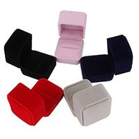 Baumwollsamt Ringkasten, keine, 51x56x51mm, verkauft von PC