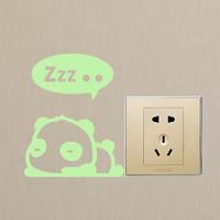 Lichtschalter Aufkleber, PVC Kunststoff, Panda, Klebstoff & glänzend, 100x125mm, verkauft von PC